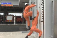 消防防災通信「消防救助技術訓練  ロープ応用登はん」