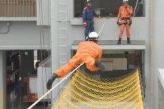 消防防災通信「消防救助技術訓練  ロープブリッジ渡過」