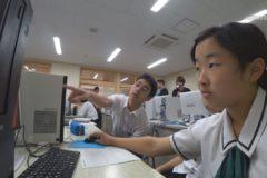 新宮小中学校・三島高校 連携授業でプレゼンに挑戦