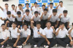 三島高校ラグビー部県総体優勝 市役所を表敬訪問