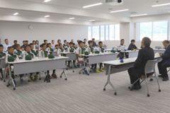 土居北軟式野球スポーツ少年団 市役所を表敬訪問