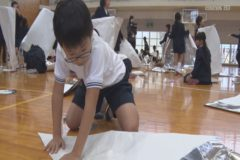 えひめさんさん物語 第6話紙の物語「紙のサーカス」ワークショップ開催