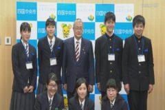 川之江高校グローバル人材育成事業 高校生が市長を表敬訪問