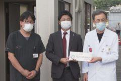 川之江港湾運送がHITO病院にコンテナ寄贈