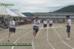 2.100m走る(男女個人) 2020年度土居中学校体育祭