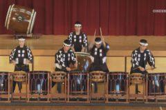 太鼓芸能集団鼓童 市内小学校で公演