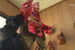 阿波木偶「三番叟まわし」新宮町上山で巡業