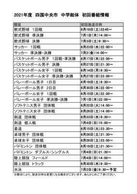 2021年度中学総体【初回放送日】のサムネイル