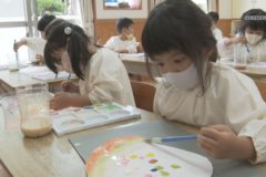 金生幼稚園 七夕アートを作ろう!