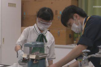 新宮小中学校で愛媛大学社会共創学部が課外授業「プラスチックについて」